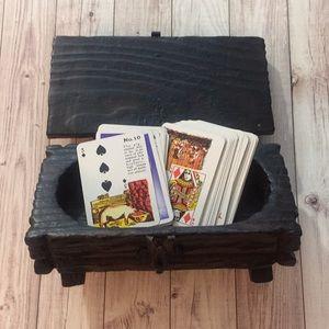 Vintage Tarot Card Wooden Box